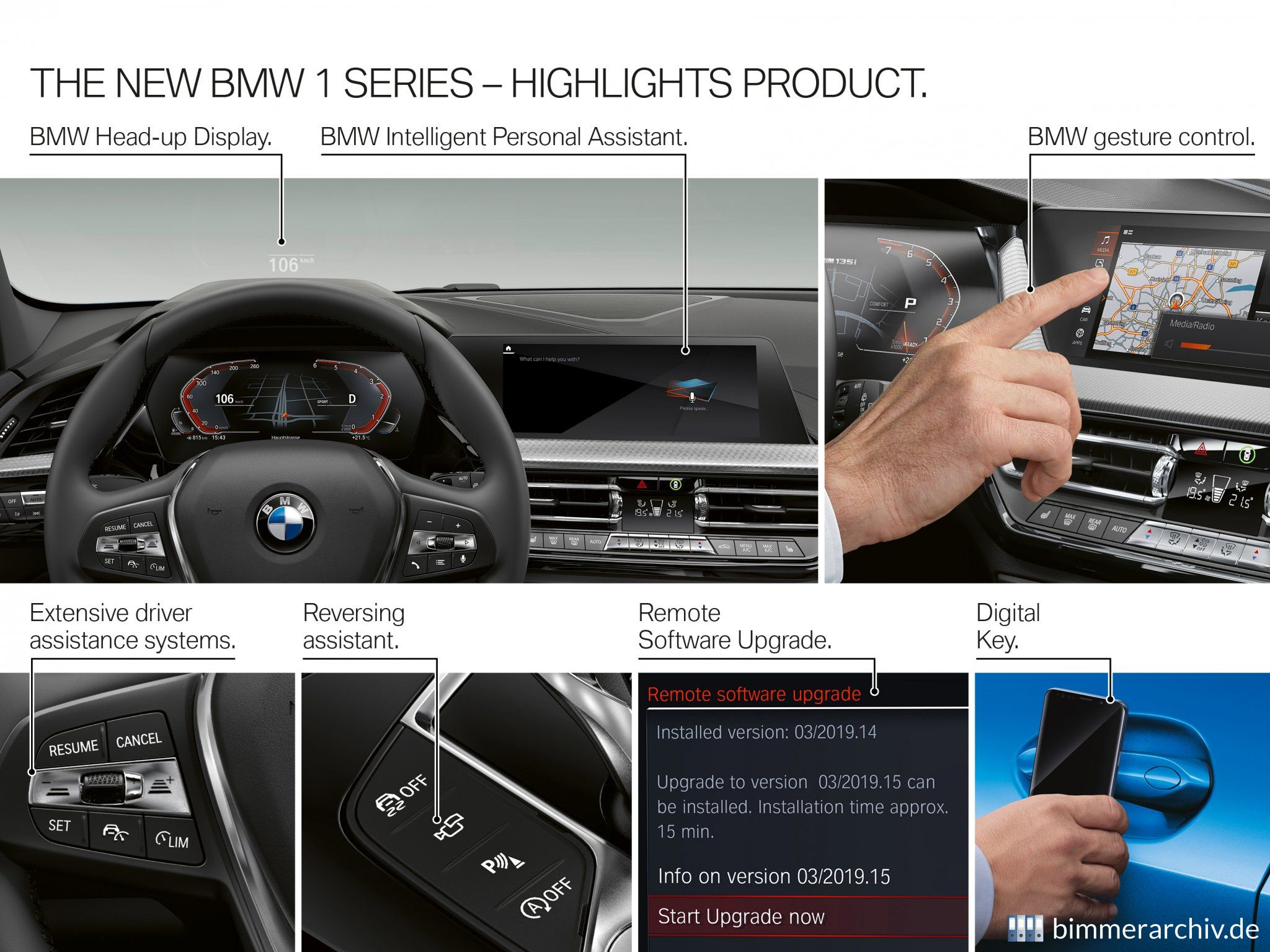 Der neue BMW 1er - Produkt Highlights
