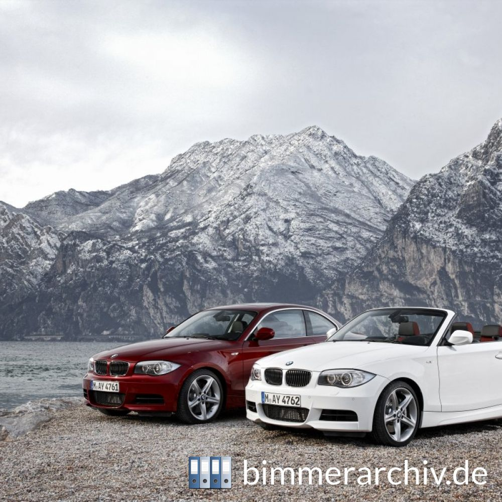 bmw baureihenarchiv das neue bmw 1er coup und 1er. Black Bedroom Furniture Sets. Home Design Ideas