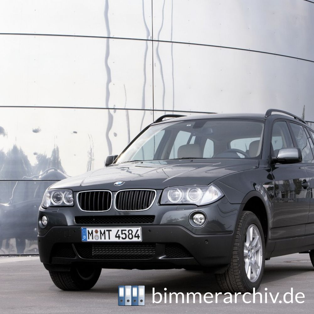 baureihenarchiv f r bmw fahrzeuge bmw x3. Black Bedroom Furniture Sets. Home Design Ideas
