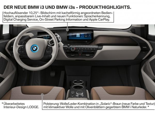 BMW i3 und BMW i3s - Produkt Highlights