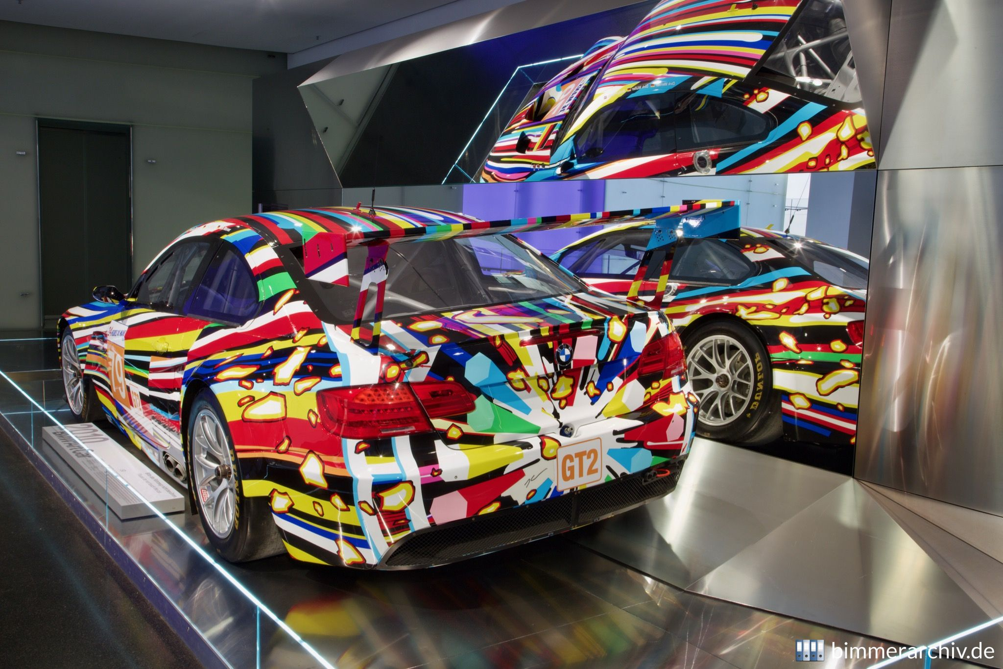 BMW M3 GT2 - Jeff Koons, Art Car, 2010