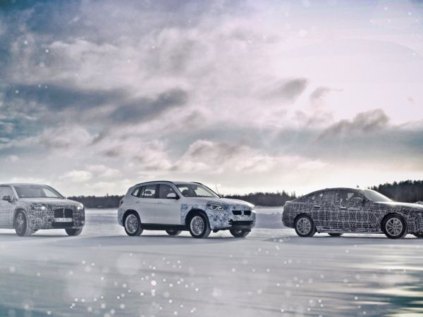BMW iX3, i4 and iNEXT winter trial tests