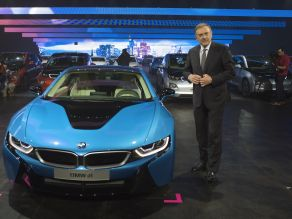 BMW Press Conference - Dr.-Ing. Norbert Reithofer and the BMW i8