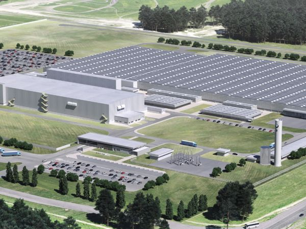 3D Rendering BMW Group Plant Araquari