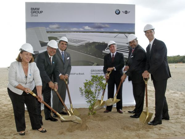 Groundbreaking for the new BMW Group Plant Araquari, Brazil